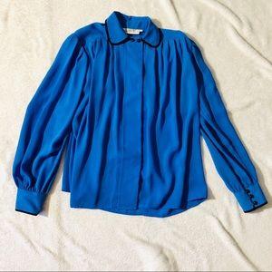 Vintage Periwinkle Blue Josephine Blouse size 8